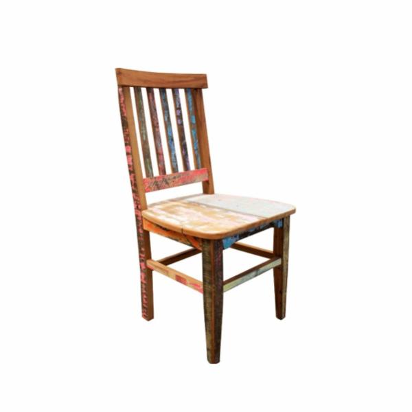 Cadeira madeira demolição color