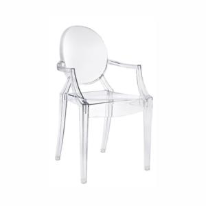 Cadeira Ghost com braço cristal