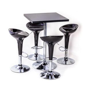 conjunto-bistro-com-4-cadeiras-e-tampo-de-vidro preto