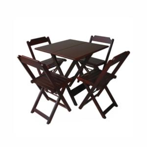 Conjunto mesa bar madeira