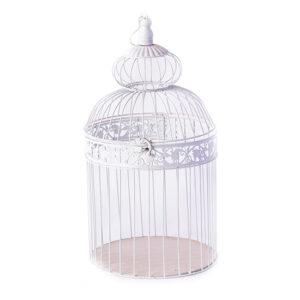 gaiola-decorativa-em-ferro-branco