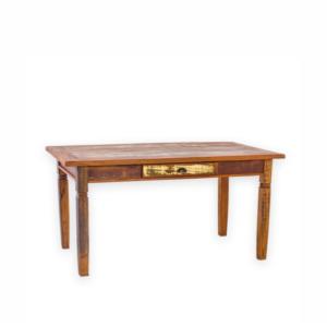 Mesa em madeira de demolição de 160x90cm