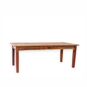 Mesa em madeira com pés entalhados