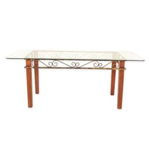 mesa-em-madeira-com-tampo-de-vidro-e-odornos-em-dourado3