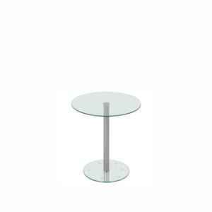 Mesa lateral com tampo de vidro