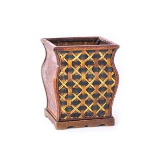 Vaso em madeira médio