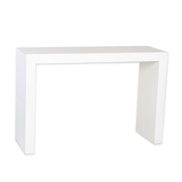 Aparador Sofa ~ Aparador reto em MDF branco Carla Bergonse