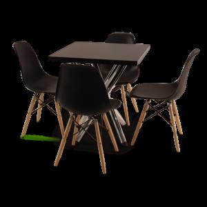 Conjunto mesa atendimento com cadeiras Eames