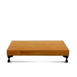 Mesa centro madeira vitrificada