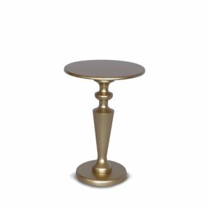 Mesa central clássica dourada